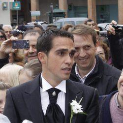 Aberto Contador el día de su boda