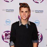 Justin Bieber en los premios europeos MTV
