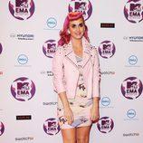 Katy Perry, de rosa en los MTV EMA 2011