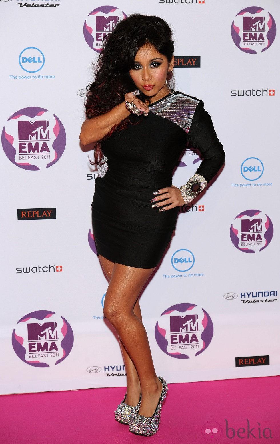 Snooki en los MTV Europe Music Awards 2011