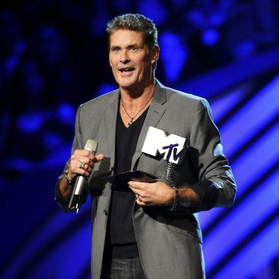David Hasselhoff en la ceremonia de los MTV Europe Music Awards 2011
