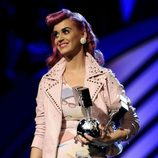 Katy Perry durante la ceremonia de los MTV Europe Music Awards 2011