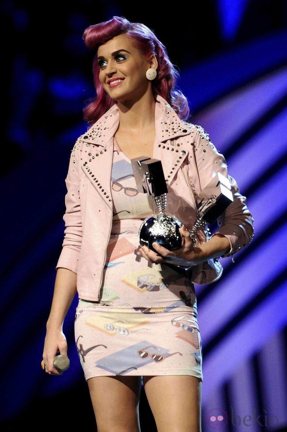 Katy Perry durante la ceremonia de los MTV Europe Music Awards 2011