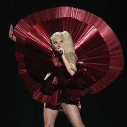 Lady Gaga durante su actuación en los MTV Europe Music Awards 2011