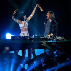 Jessie J y David Guetta en los MTV Europe Music Awards 2011