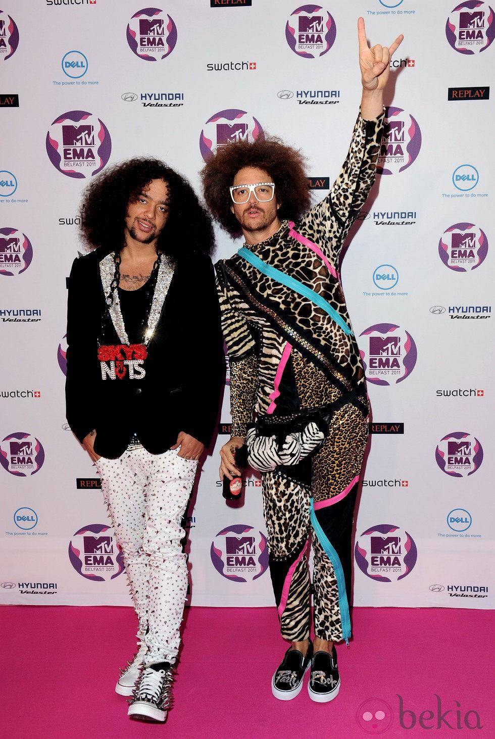 LMFAO en los MTV Europe Music Awards 2011
