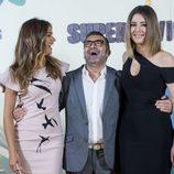 Lara Álvarez, Jorge Javier Vázquez y Sandra Barneda en la presentación de 'Supervivientes 2017'