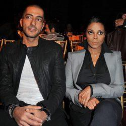 Janet Jackson y Wissam al Mana en el front row de la Semana de la Moda de París primavera/verano 2011