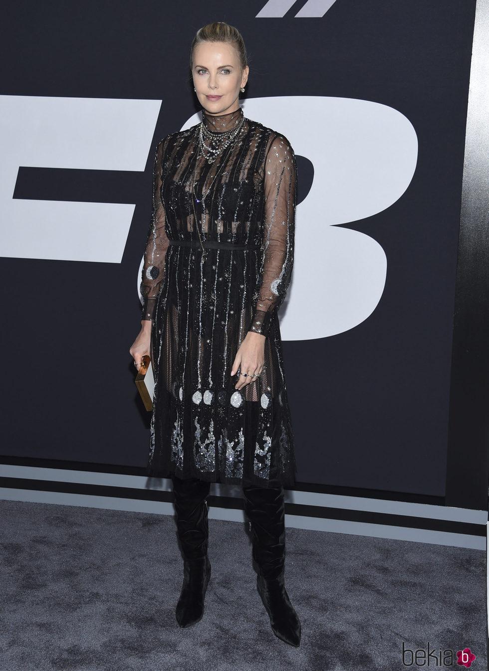 Charlize Theron en la Premiere de 'Fast & Furious 8' en Nueva York