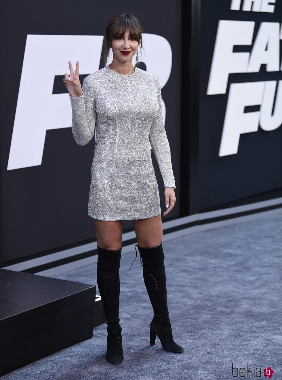 Jackie Cruz en la Premiere de 'Fast & Furious 8' en Nueva York