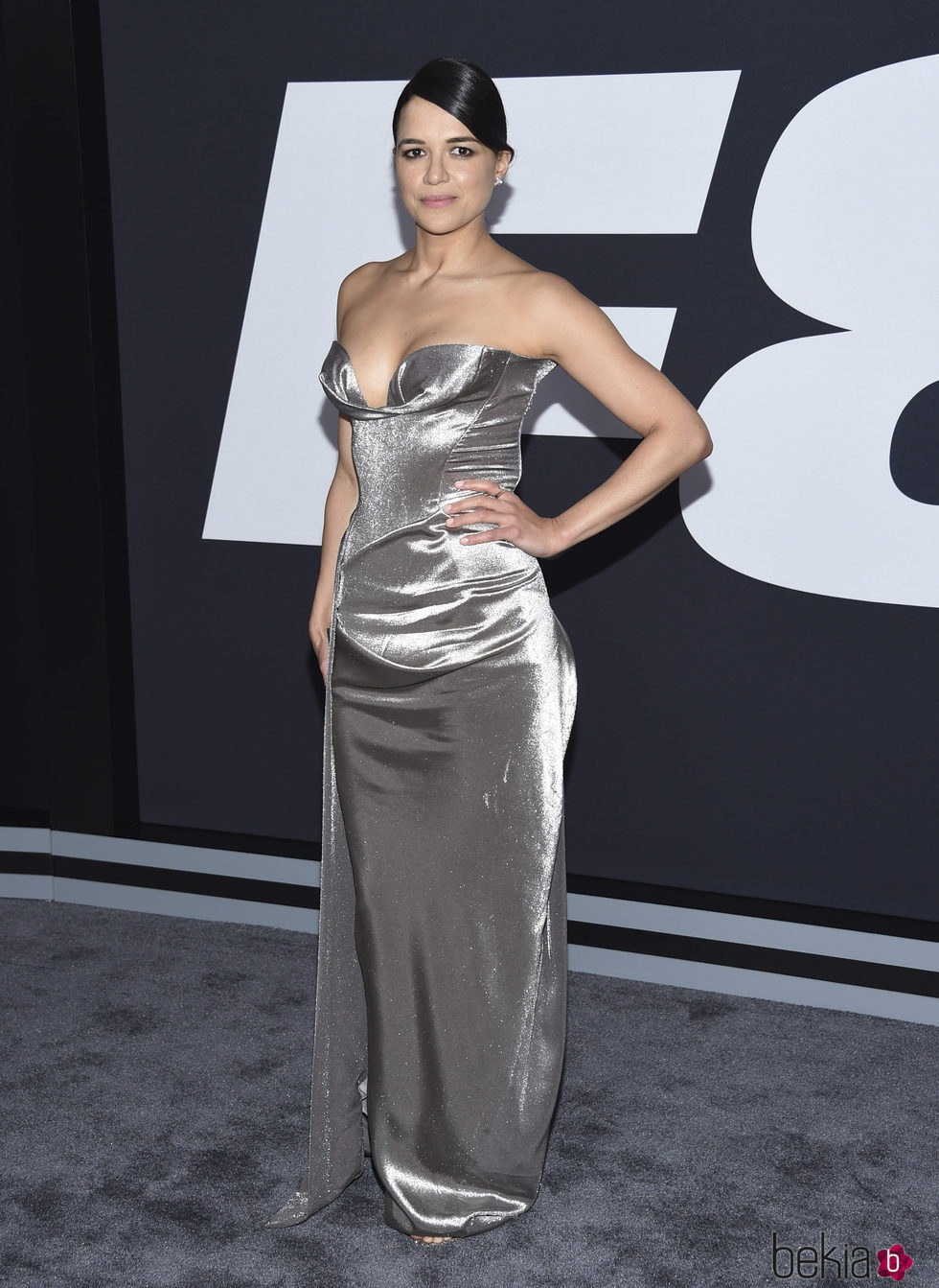 Michelle Rodriguez en la Premiere de 'Fast & Furious 8' en Nueva York