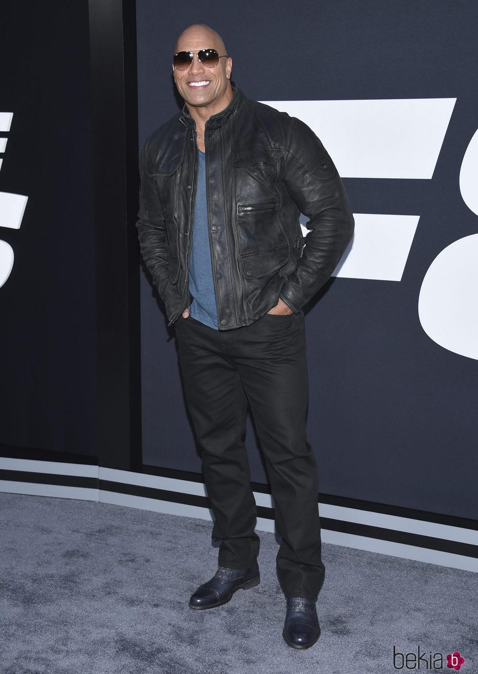 Dwayne Johnson en la Premiere de 'Fast & Furious 8' en Nueva York