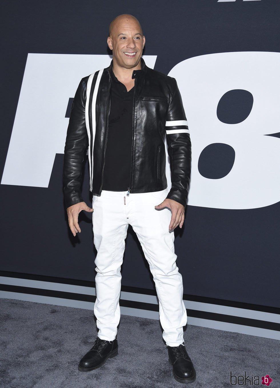 Vin Diesel en la Premiere de 'Fast & Furious 8' en Nueva York