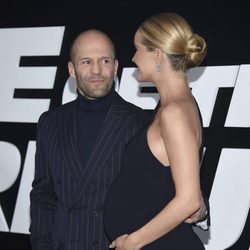 Jason Statham y Rosie Huntington-Whiteley en la Premiere de 'Fast & Furious 8' en Nueva York