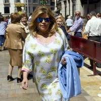 Terelu Campos en la Semana Santa malagueña