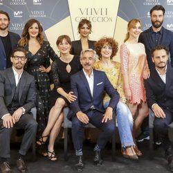 El reparto de 'Velvet Colección' en la presentación en Barcelona