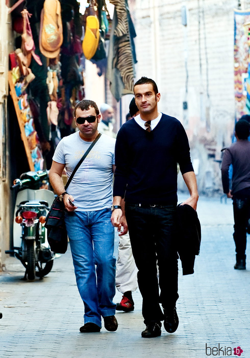 Jorge Javier Vázquez y su novio Paco en Marruecos