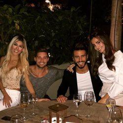 Aylén Milla, Marco Ferri, Oriana Marzoli y Luis Mateucci cenando en Madrid