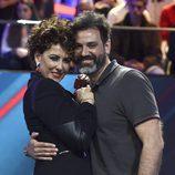 Irma Soriano con su marido Mariano en la final de 'GHVIP5'