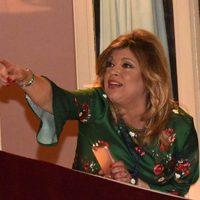 Terelu Campos muy atenta las procesiones de Málaga de la Semana Santa 2017