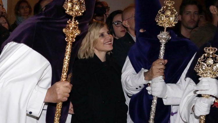Eugenia Martínez de Irujo disfrutando de la Semana Santa