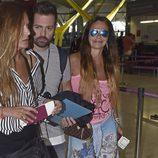 Leticia Sabater en el aeropuerto de Madrid