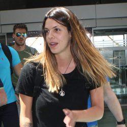 Laura Matamoros en el aeropuerto de Madrid