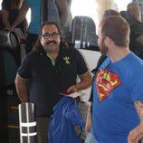 Juan Miguel en el aeropuerto de Madrid rumbo a Honduras