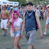 Ariel Winter y Levi Meden en el festival Coachella 2017