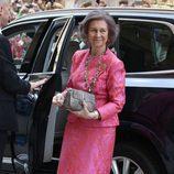 La Reina Sofía llegando a la Misa de Pascua del 2017 en Palma