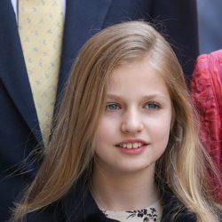 La Princesa Leonor en la Misa de la Pascua 2017