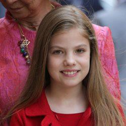 La Infanta Sofía en la Misa de la pascua 2017