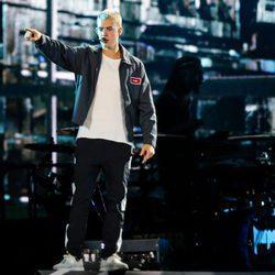 Justin Bieber actuando en Brasil