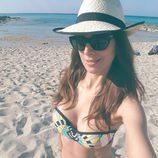 Nuria Fergó en la playa disfrutando de la Semana santa 2017