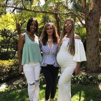 Beyoncé junto a Kelly Rowland y su madre Tina Knowles en Pascua