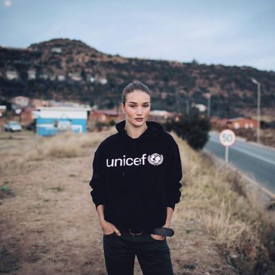 Rosie Huntington-Whiteley, embajadora de UNICEF