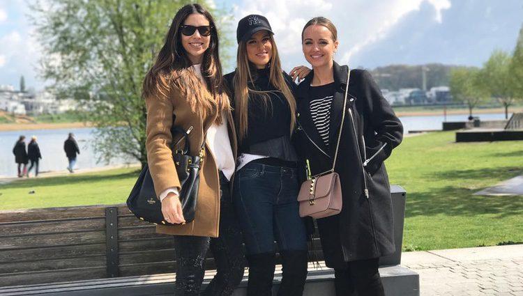 Melissa Jiménez, Elena Galera y Romarey Ventura en Dortmund