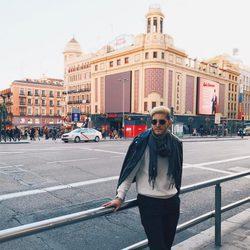 Aldo Palmieri se divierte en su visita a España