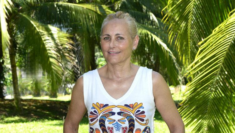 Lucía Pariente posando como concursante de 'Supervivientes 2017'