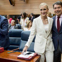 Cristina Cifuentes e Ignacio González en la sesión de investidura