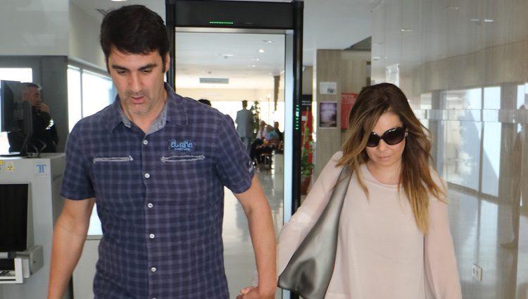 María José Campanario y Jesulín de Ubrique saliendo de los Juzgados de Arcos de la Frontera