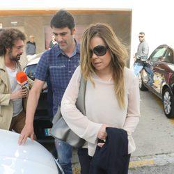 María José Campanario a la salida de los Juzgados de Arcos de la Frontera