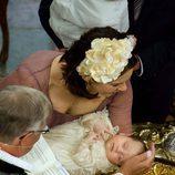Isabel de Dinamarca en su bautizo