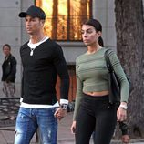 Cristiano Ronaldo y Georgina Rodríguez caminando por Madrid