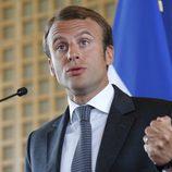 Emmanuel Macron durante su nombramiento como ministro de Economía de Francia