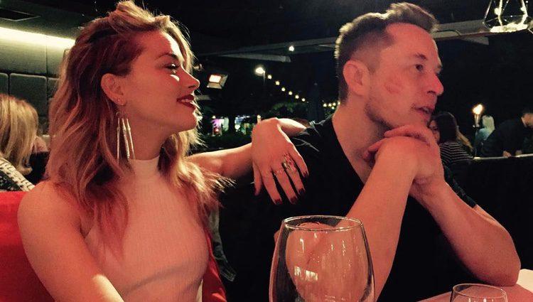 Amber Heard junto a Elon Musk