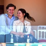 Alexandra de Hannover y Ben-Sylvester ríen divertidos en la final del Master 1000 de Monte-Carlo 2017
