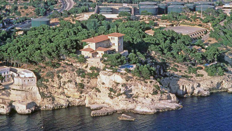 Vista aérea del Palacio de Marivent