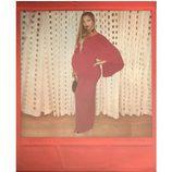 Beyoncé muestra su embarazo vestida de rojo