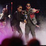 Ozuna y Daddy Yankee en los premios Billboard Latinos 2017